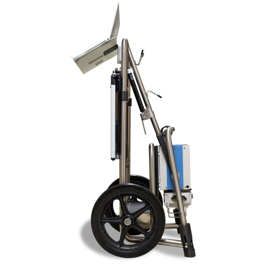 New Stainless Steel Batt-A-Ray Stand Profile with Laptop for Website